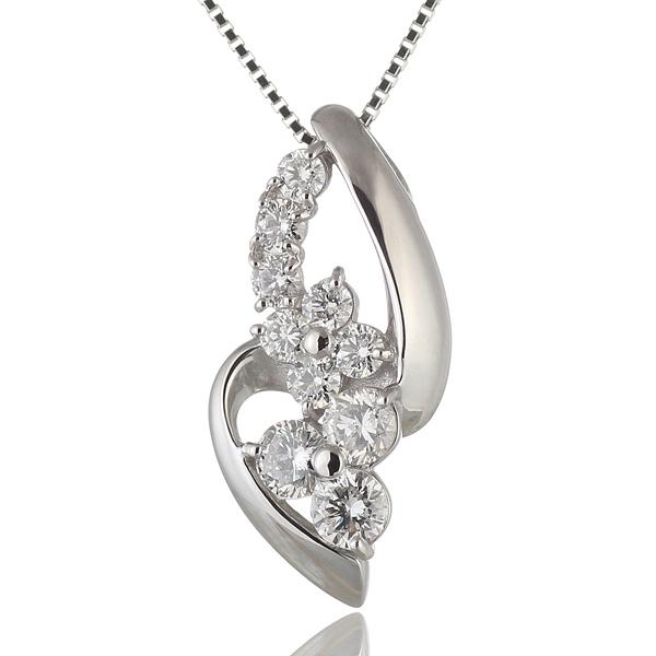 ネックレス ダイヤモンド ネックレス プラチナ ダイヤモンドネックレス ダイヤモンド ダイヤ 1カラット鑑別書付 【DEAL】