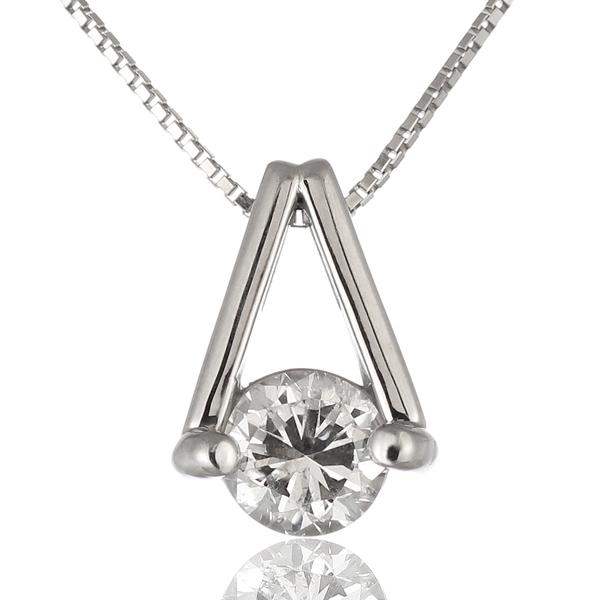 ネックレス 一粒 ダイヤモンド ネックレス プラチナ ダイヤモンドネックレス ダイヤモンド ダイヤ 1カラット 鑑別書付