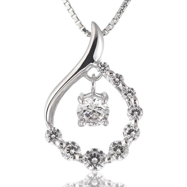 ダイヤモンド プラチナ ネックレス 0.5カラット 0.5ct 結婚 10周年記念 10個 10石 ギフト プレゼント スイート エタニティ 末広 スーパーSALE