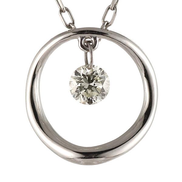 ネックレス ダイヤモンド K18 ホワイトゴールド 18金 シンプル 末広 スーパーSALE