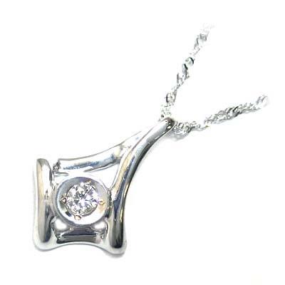 ( 4月誕生石 ) K18ホワイトゴールド ダイヤモンドペンダントネックレス【DEAL】 末広 スーパーSALE
