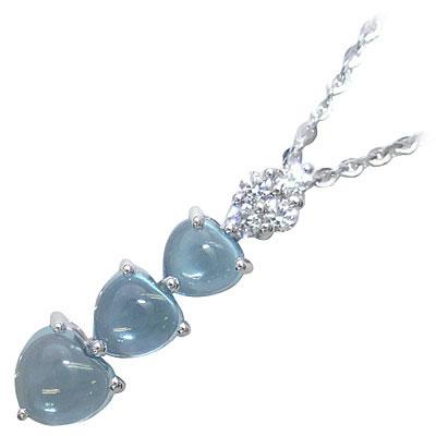 ( Brand Jewelry PLATIM )ブルートパーズペンダントネックレス