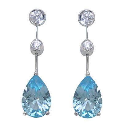 ブルートパーズ ピアス ( Brand Jewelry PLATIM )ブルートパーズピアス