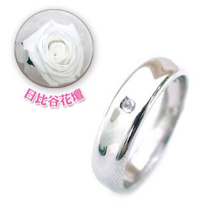 メンズリング 結婚指輪・マリッジリング・ペアリング( 6月誕生石 )ムーンストーン(母の日 限定 日比谷花壇誕生色バラ付)