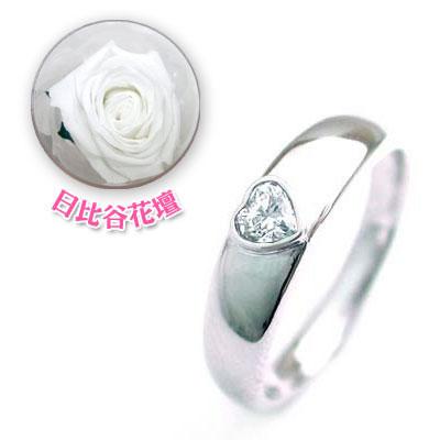 ペアリング 結婚指輪・マリッジリング・( 4月誕生石 )ダイヤモンドCanCam掲載(母の日 限定 日比谷花壇誕生色バラ付)