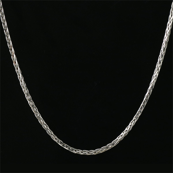レディース ネックレス チェーン K18 ホワイトゴールド 編みこみチェーン 人気 送料無料 末広 スーパーSALE