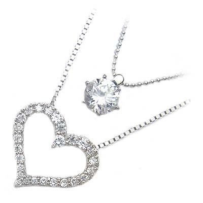 ( Brand Jewelry me. ) シルバー925・プラチナコーティングペンダントネックレス