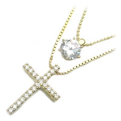 ( Brand Jewelry me. ) シルバー925・ゴールドコーティングペンダントネックレス