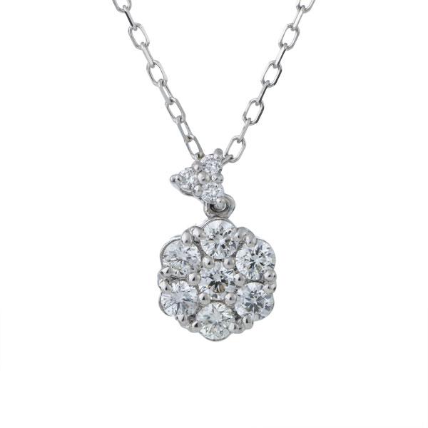 ネックレス ダイヤモンド 18金 スイート エタニティ 10個 結婚 10周年記念