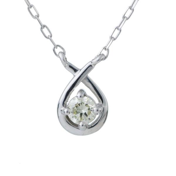 ダイヤモンド ネックレス しずく 18金 末広 スーパーSALE