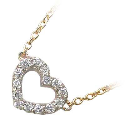 ( Brand Jewelry me. ) K10ゴールド ダイヤモンドペンダントネックレス