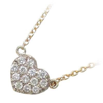 ( Brand Jewelry me. ) K10ゴールド ダイヤモンドペンダントネックレス【DEAL】