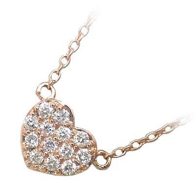 ( Brand Jewelry me. ) K10ピンクゴールド ダイヤモンドペンダントネックレス【DEAL】