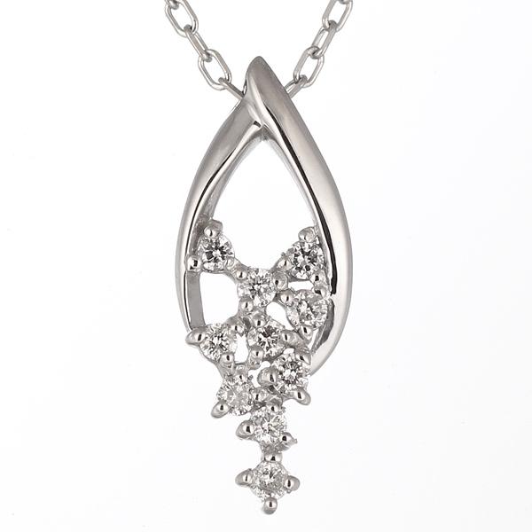 スイート エタニティ ダイヤモンド 10 個 ダイヤモンド ネックレス プラチナ 結婚 10周年記念