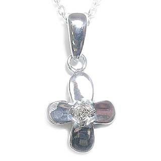 ( 4月誕生石 ) ダイヤモンドペンダントネックレス(フラワーモチーフ) 【DEAL】