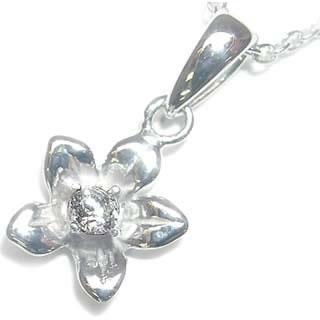 ( 4月誕生石 ) ダイヤモンドペンダントネックレス(フラワーモチーフ)【DEAL】