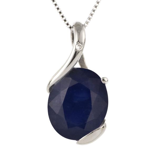 ネックレス レディース 天然石 サファイア ダイヤモンド プラチナ ネックレス 9月 誕生石