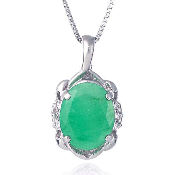 ネックレス レディース 天然石 エメラルド ダイヤモンド プラチナ ネックレス 5月 誕生石