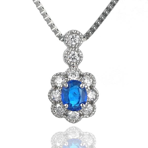 アウイナイト ネックレス ダイヤモンド プラチナ