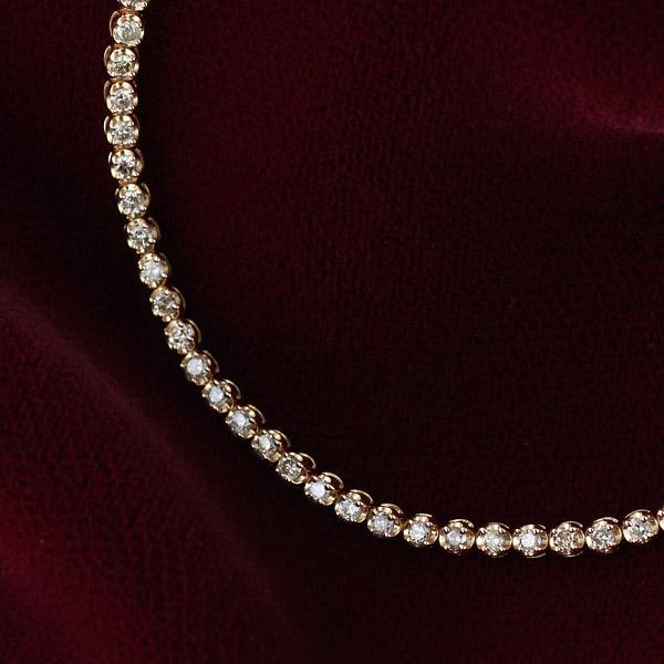 1カラット ダイヤモンド テニスブレスレット ピンクゴールド