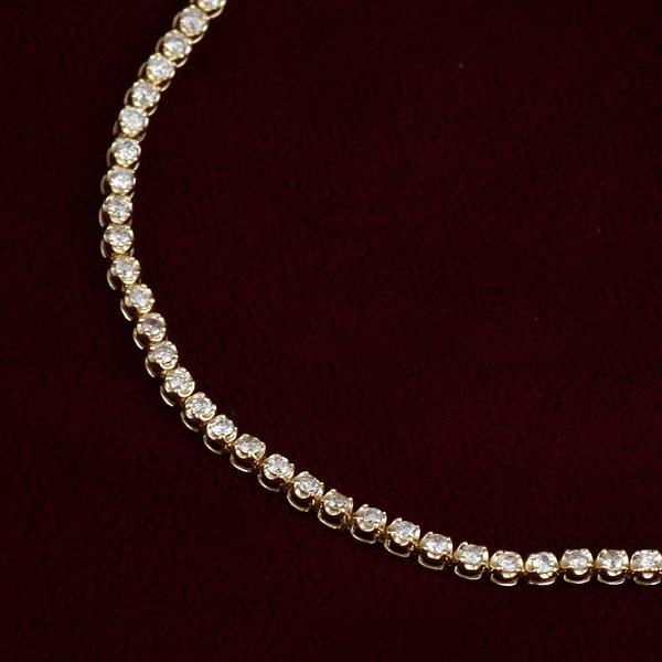 1カラット ダイヤモンド テニスブレスレット イエローゴールド