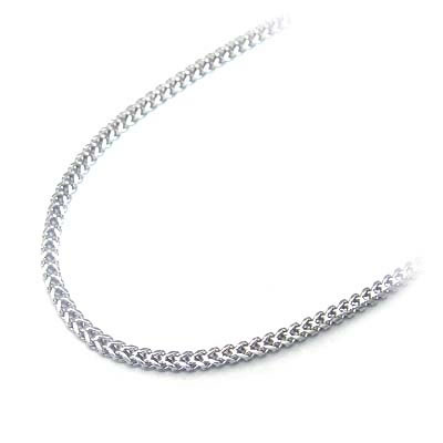 ネックレス メンズ K18ホワイトゴールド メンズ・レディスデザインネックレス