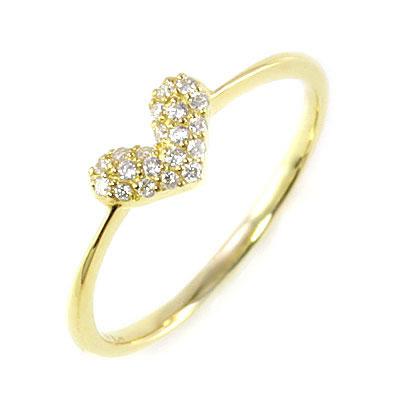 ハート K18 ダイヤモンドデザインリング(ハートモチーフ) 【DEAL】 末広 スーパーSALE【今だけ代引手数料無料】