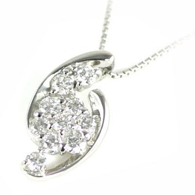 スイート エタニティ ダイヤモンド 10 個 プラチナダイヤモンドペンダントネックレス 結婚 10周年記念【DEAL】 末広 スーパーSALE