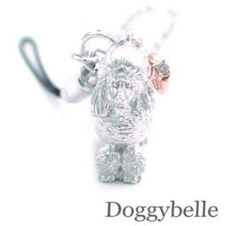 ( 4月誕生石 ) プラチナ K10ダイヤモンド入り携帯ストラップ(プードル) 犬