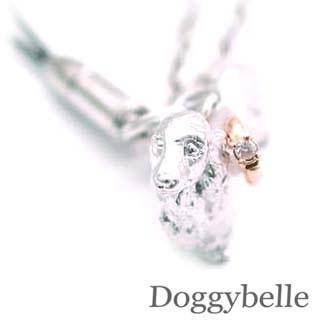 ( 4月誕生石 ) SV K10ダイヤモンド入り携帯ストラップ(ダックスフンド) 犬