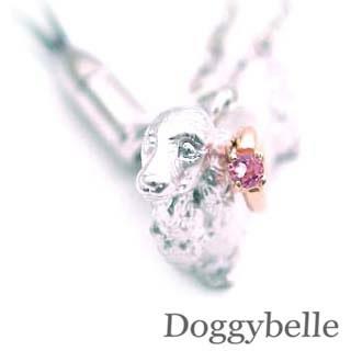 ピンクトルマリン ( 10月誕生石 ) プラチナ K10ピンクトルマリン入り携帯ストラップ(ダックスフンド) 犬