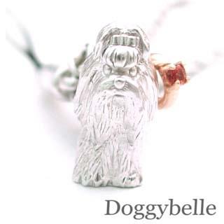ガーネット ( 1月誕生石 ) プラチナ K10ガーネット入り携帯ストラップ(シーズー) 犬