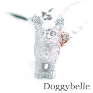 ( 4月誕生石 ) プラチナ K10ダイヤモンド入り携帯ストラップ(チワワ) 犬 末広 スーパーSALE