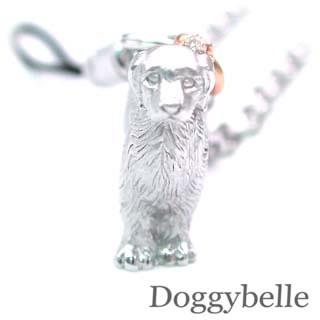 ( 4月誕生石 ) SV K10ダイヤモンド入り携帯ストラップ(ゴールデンレトリバー) 犬