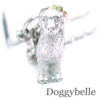 ペリドット ネックレス ( 8月誕生石 ) プラチナ K10ペリドット入り携帯ストラップ(ゴールデンレトリバー) 犬 末広 スーパーSALE
