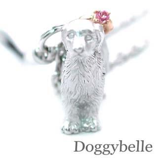 ピンクトルマリン ( 10月誕生石 ) SV K10ピンクトルマリン入り携帯ストラップ(ゴールデンレトリバー) 犬