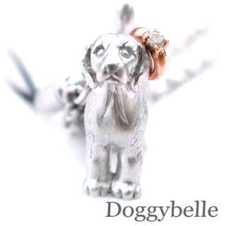 ( 4月誕生石 ) プラチナ K10ダイヤモンド入り携帯ストラップ(ビーグル) 犬
