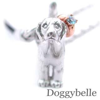 ブルートパーズ ネックレス ( 11月誕生石 ) SV K10ブルートパーズ入り携帯ストラップ(ビーグル) 犬