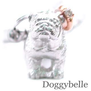 ( 4月誕生石 ) プラチナ K10ダイヤモンド入り携帯ストラップ(ブルドッグ) 犬  末広 スーパーSALE【今だけ代引手数料無料】