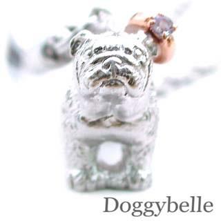 タンザナイト ( 12月誕生石 ) プラチナ K10タンザナイト入り携帯ストラップ(ブルドッグ) 犬