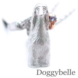 タンザナイト ( 12月誕生石 ) プラチナ K10タンザナイト入り携帯ストラップ(アフガンハウンド) 犬