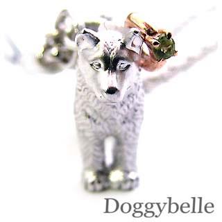 ペリドット ネックレス ( 8月誕生石 ) プラチナ K10ペリドット入り携帯ストラップ(秋田犬) 犬