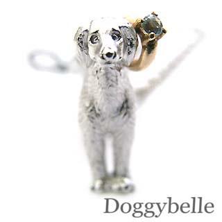 アクアマリン ( 3月誕生石 ) プラチナ K10アクアマリン入り携帯ストラップ(サルーキー) 犬