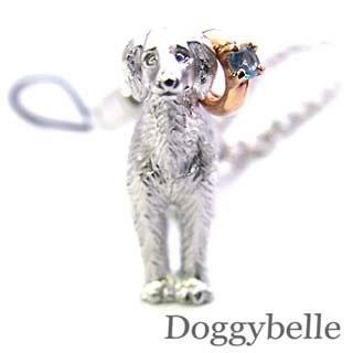ブルートパーズ ネックレス ( 11月誕生石 ) プラチナ K10ブルートパーズ入り携帯ストラップ(サルーキー) 犬