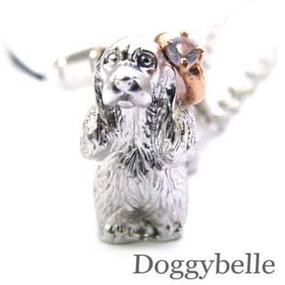 ムーンストーン ( 6月誕生石 ) プラチナ K10ムーンストーン入り携帯ストラップ(アメリカン・コッカー・スパニエル) 犬