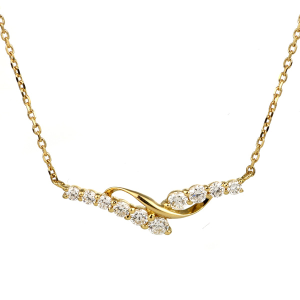 ダイヤモンド ネックレス スイート エタニティ 10個のダイヤモンド 結婚10周年 18金 末広 スーパーSALE