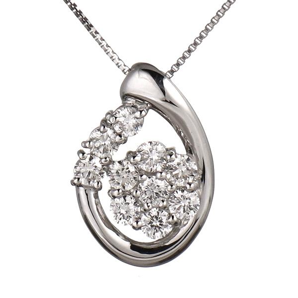 ネックレス ダイヤモンド プラチナ スイート エタニティ 10個 レディース 結婚 10周年記念