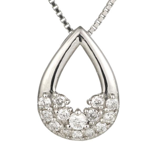 ダイヤモンド ネックレス プラチナ しずく 末広 スーパーSALE