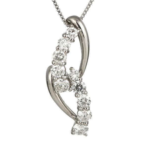 スイート エタニティ 10個のダイヤモンド ダイヤモンド ネックレス プラチナ 結婚10周年