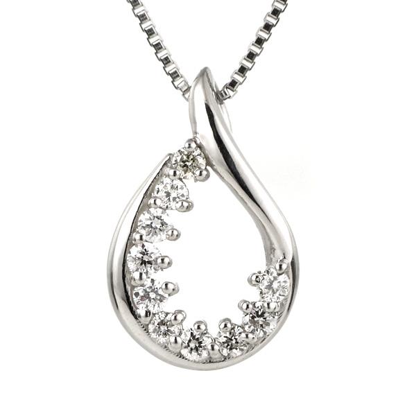 ダイヤモンド ネックレス プラチナ しずく スイート エタニティ 10個のダイヤモンド 結婚10周年